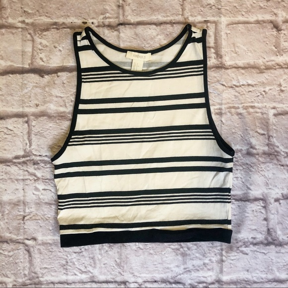 Forever 21 Tops - Forever21 Fitted Cropped Tank Top